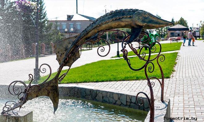 Лаишево Памятник осетру и история рыболовства в городе