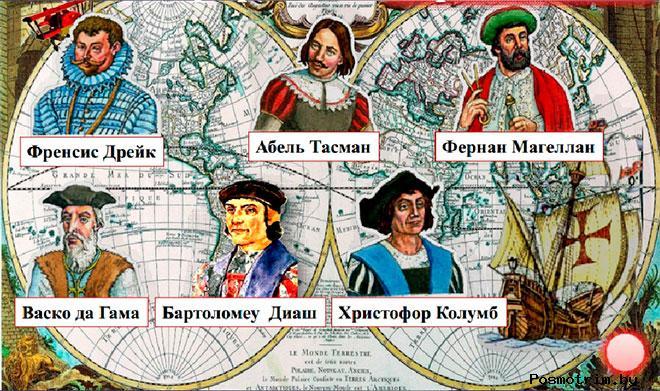 Великие географические открытия в таблицах