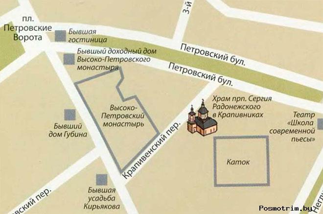 Храм Сергия Радонежского в Крапивниках расписание богослужений контакты как добраться расположение на карте