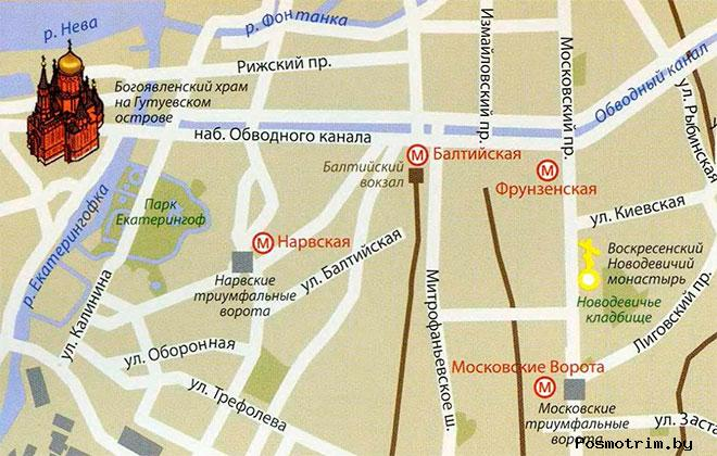 Храм Богоявления на Гутуевском острове расписание богослужений контакты как добраться расположение на карте