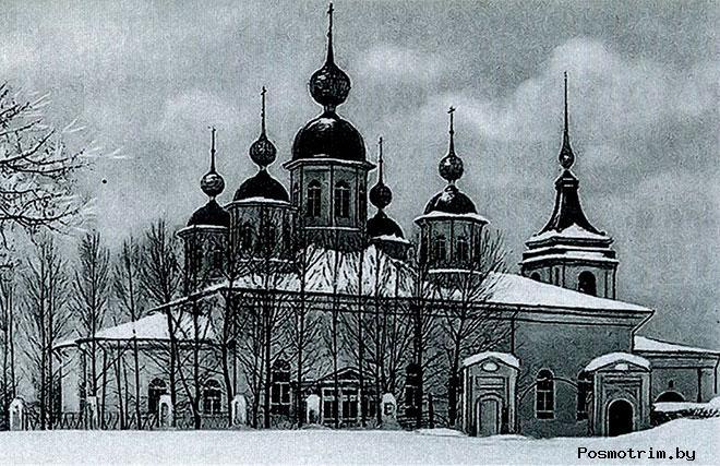 Строительство Воскресенского собора в Череповеце