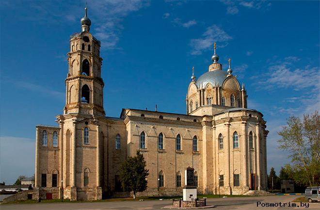 Строительство Троицкого храма Гусь-Железного