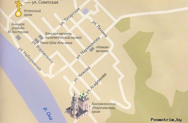 Георгиевская церковь Касимова расписание служб контакты как добраться расположение на карте
