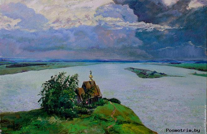 «Над вечным покоем» самая знаменитая картина Исаака Левитана, написанная в Плёсе