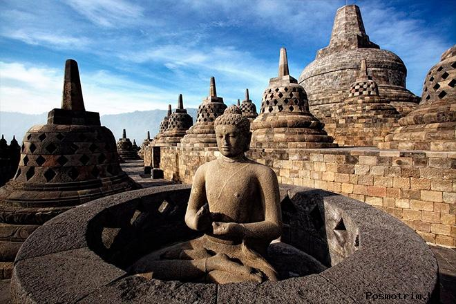 Храм Боробудур Индонезия