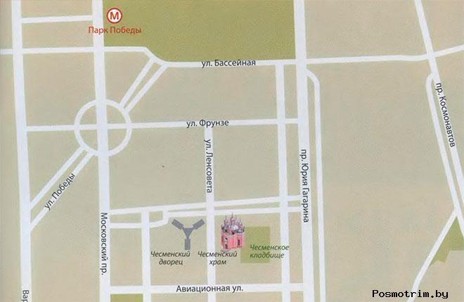 Чесменская церковь богослужения контакты как добраться расположение на карте