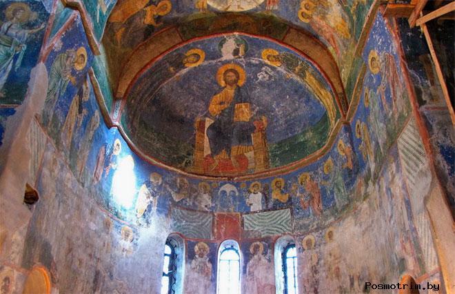 Фресковый ансамбль Богородице-Рождественского собора Снетогорского монастыря