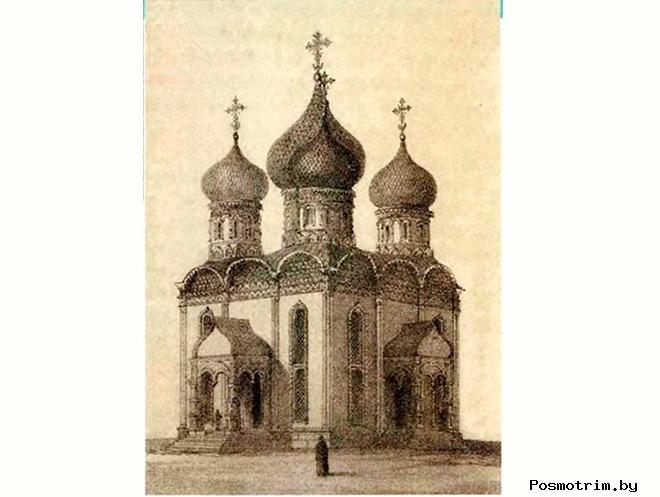 Строительство Покровского собора в Измайлово