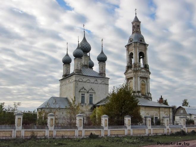 Никольская церковь Саметь