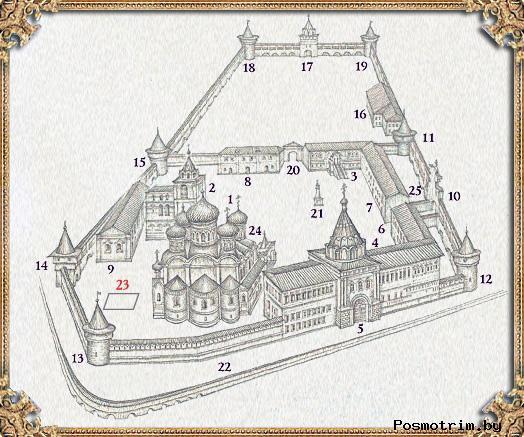 План Свято-Троицкого Ипатьевского монастыря