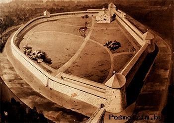 Порховская крепость макет — экспонат Музея истории Порховского края.