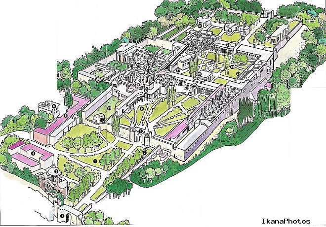 Карта дворцового комплекса Топкапи