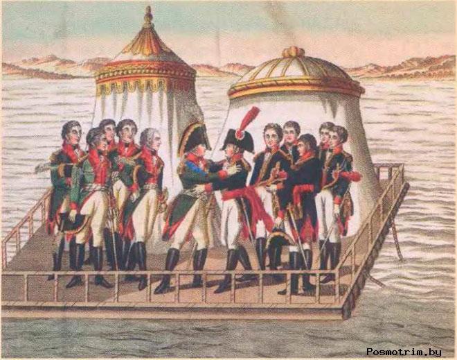 Встреча в Тильзите Наполеона и Александра I