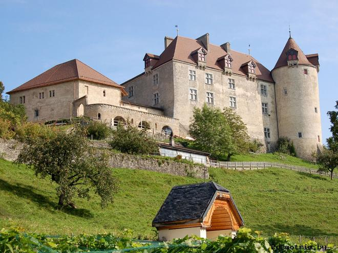 Замок Грюйер в Швейцарии