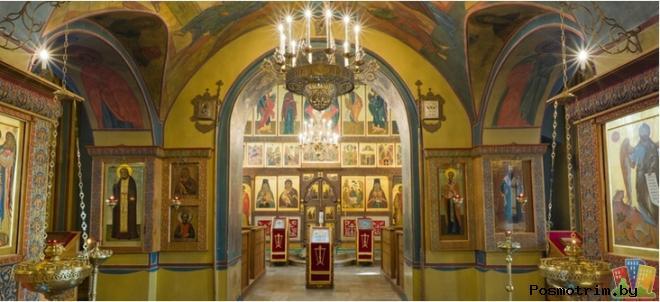 Интерьер Троицкого храма в Хорошеве