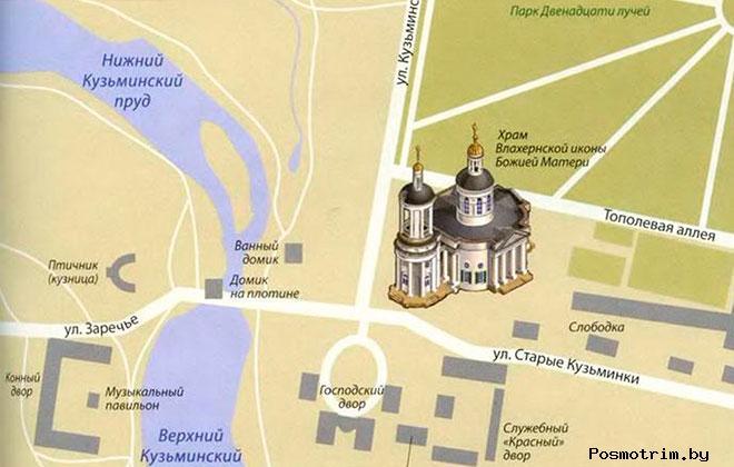 Храм в Кузьминках богослужения контакты как добраться расположение на карте
