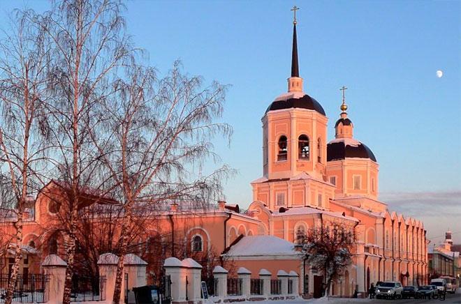 Строительство Богоявленского собора в Томске