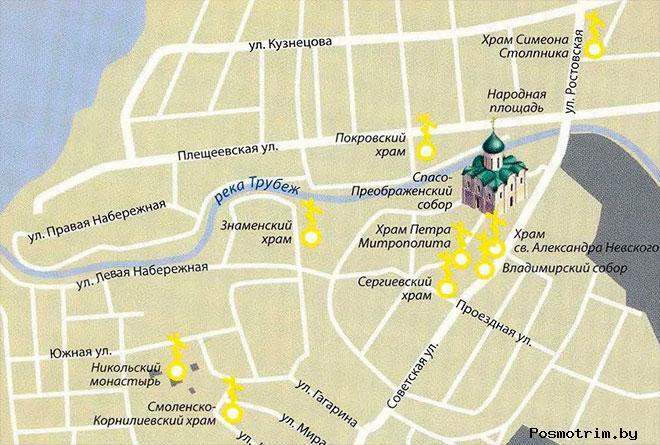 Преображенского собор Переславль-Залесский график работы контакты как добраться расположение на карте