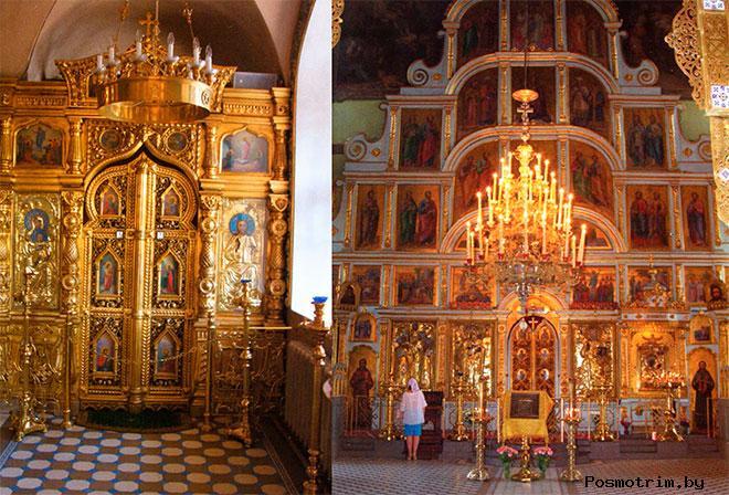 Внутри Тихвинского храма в Алексеевском