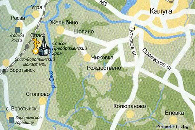 Спасо-Воротынский монастырь богослуженияконтакты график работы как добраться расположение на карте