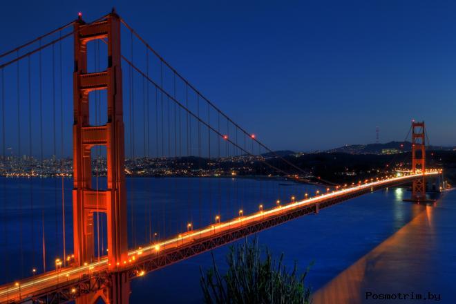 Мост Золотые Ворота в Сан Франциско США (Golden Gate Bridge)