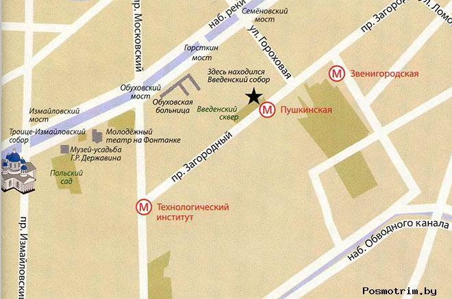 Троице-Измайловский собор график работы богослужения контакты как добраться расположение на карте