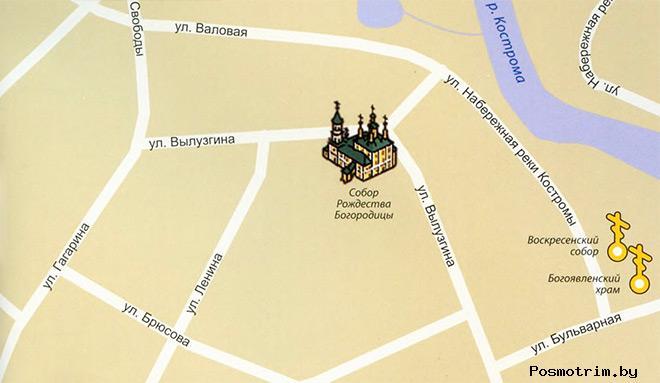 Солигалич Собор Рождества Богородицы богослужения график работы контакты как добраться расположение на карте