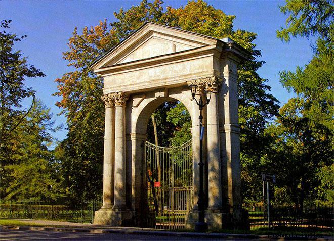Адмиралтейские ворота Гатчина