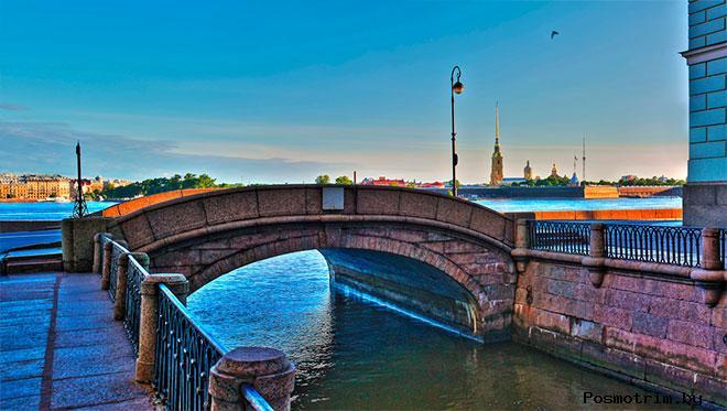 Эрмитажный мост Санкт-Петербург