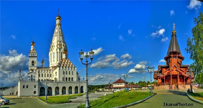 Расположение Всехсвятской церкви в Минске