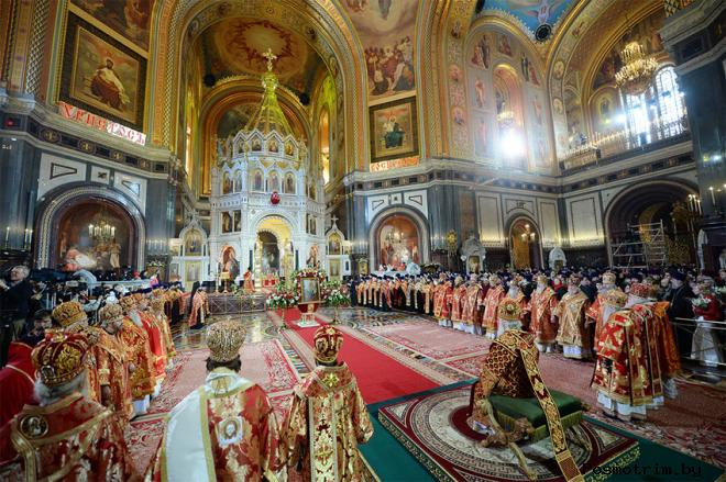 Освящение храма Христа Спасителя в Москве