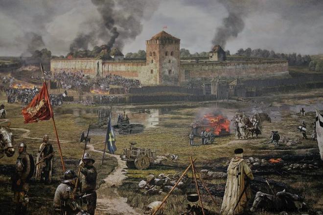 Замок в Мядининкай в войне с крестоносцами