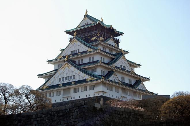 Замок в Осаке Япония