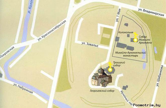 Георгиевский собор Юрьев-Польский режим работы контакты расположение на карте как добраться самостоятельно