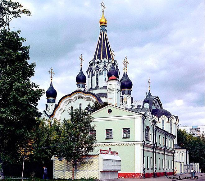Воскресенский храм в Сокольниках архитектура