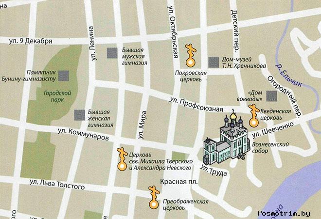 Вознесенский собор Ельц богослужения контакты как добраться расположение на карте