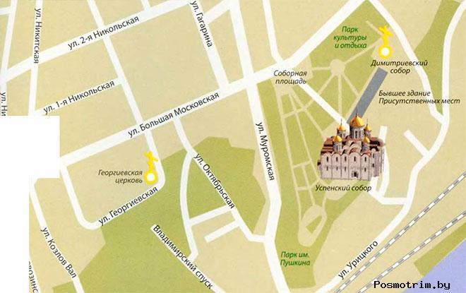 Свято-Успенский Кафедральный Собор Владимира время посещения богослужения контакты как добраться расположение на карте