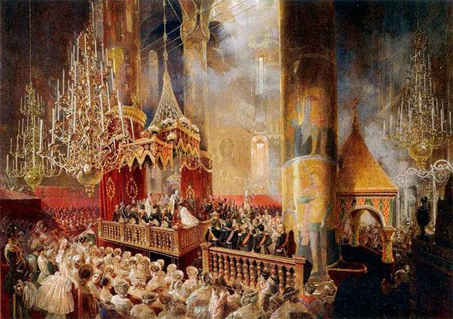 Смерть отца и Вступление Александра II на престол России