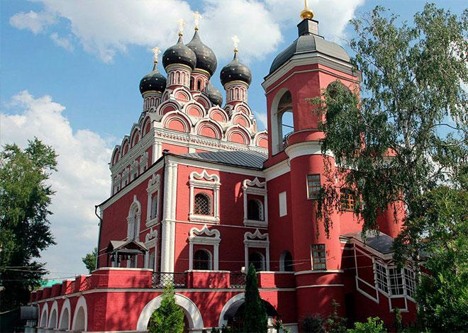 Архитектура храма Тихвинской иконы Божией Матери в Алексеевском