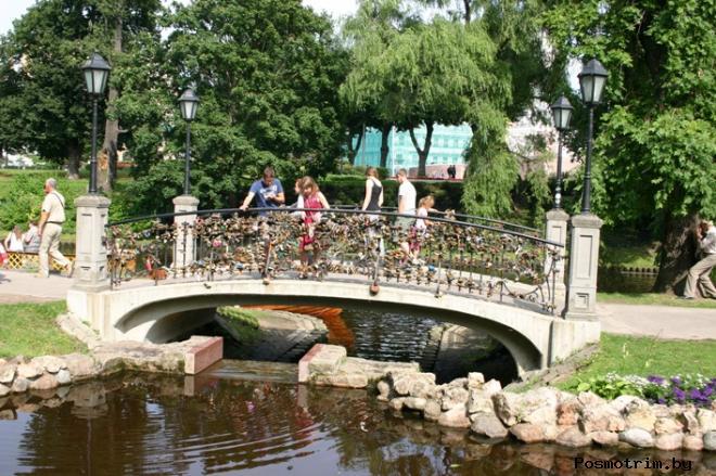 Мост влюблённых в Риге