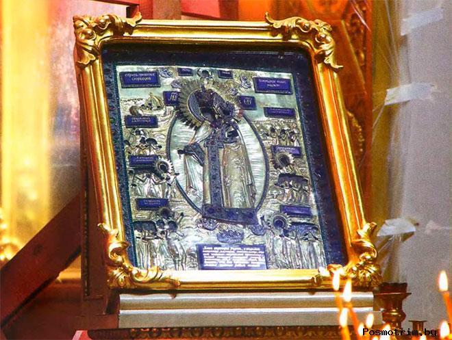 Икона Божией Матери «Всех скорбящих Радость» в Спасо-Преображенском соборе Петербурга