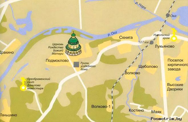 Храм Рождества Пресвятой Богородицы Подмоклово расписание богослужений контакты как добраться расположение на карте