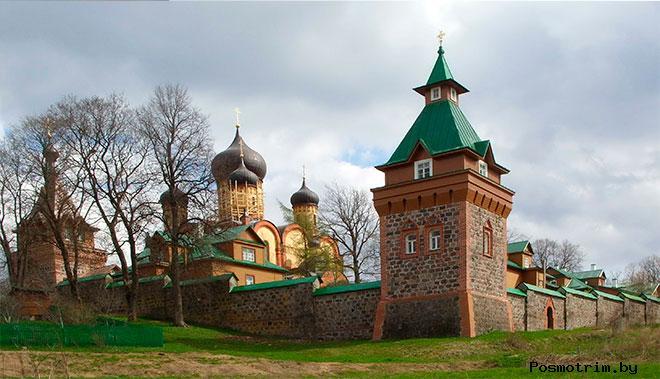 Пюхтицкий монастырь богослужение посещение контакты как добраться расположение на карте