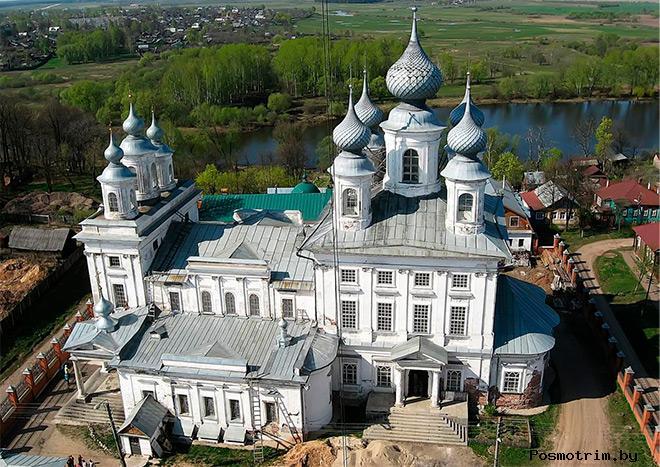 Строительство Воскресенского собора в Шуе