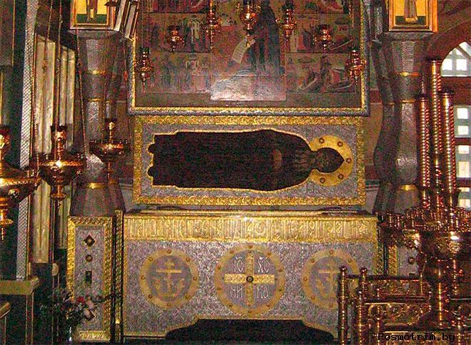 Мощи Пафнутия Боровского основателя монастыря