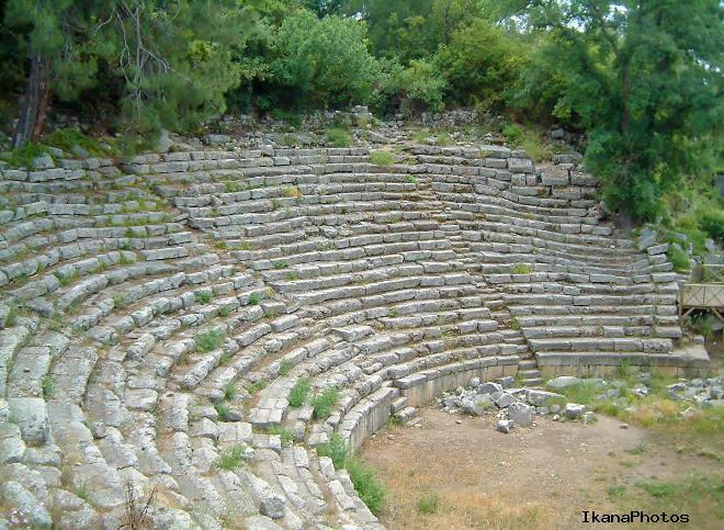 Руины античного города Олимпос сегодня