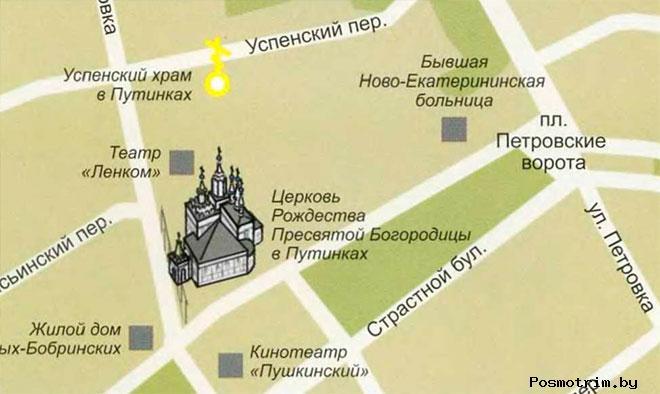 Храма Рождества Пресвятой Богородицы в Путинках режим работы богослужения контакты как добраться расположение на карте