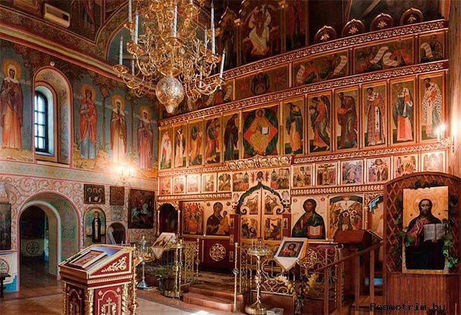 Интерьер Богоявленского храма в Красном
