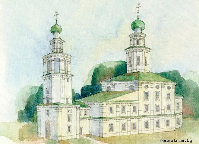 Строительство Троицкого храма в Архангельске