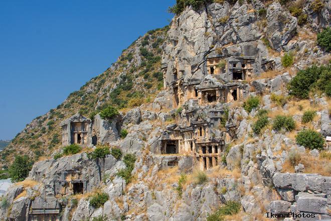 Виды ликийских гробниц